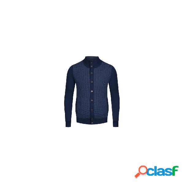 Hackett chaquetas abrigo de hombre, talla xl - hm702361 jcqd nylon panel fzip azul jeans