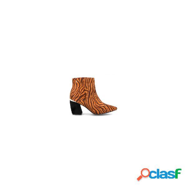 Menbur botines tacón medio de mujer, talla 38 - 20825 zapato botin tacon leopardo