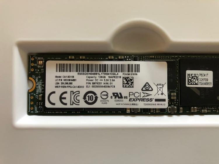 Disco duro interno ssd pci express 128gb m2