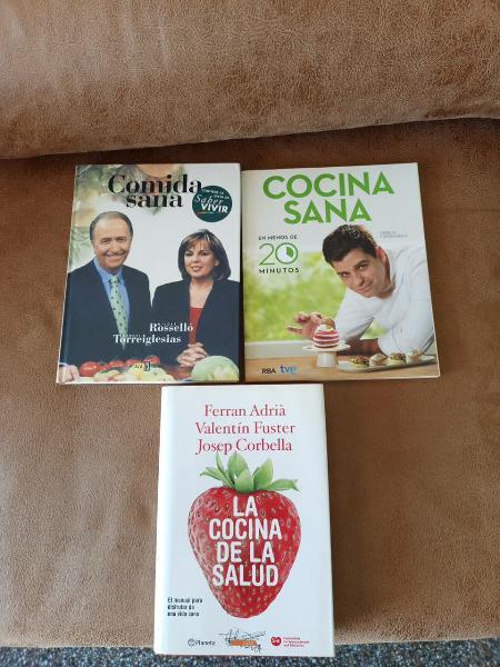 Lote 3 libros cocina sana.