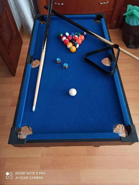 Mini mesa de billar, hockey y ping pong