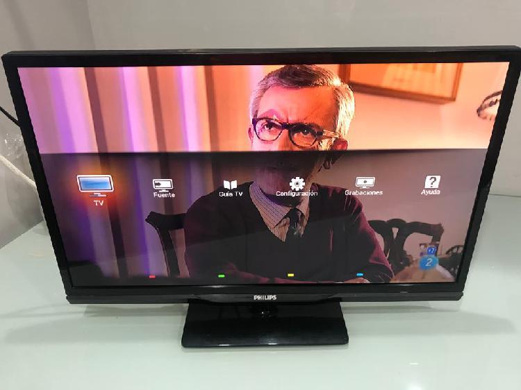"Philips tv led digital crystal clear 24"""
