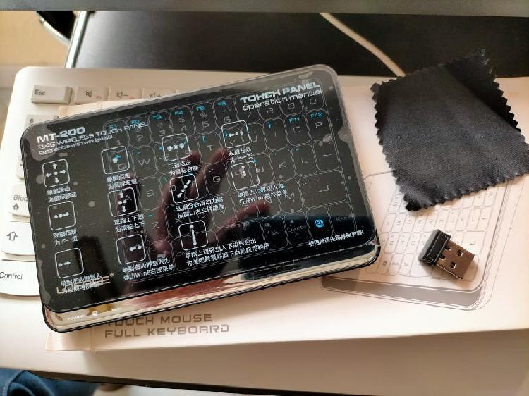Teclado + raton 2.4g todo en uno tactil