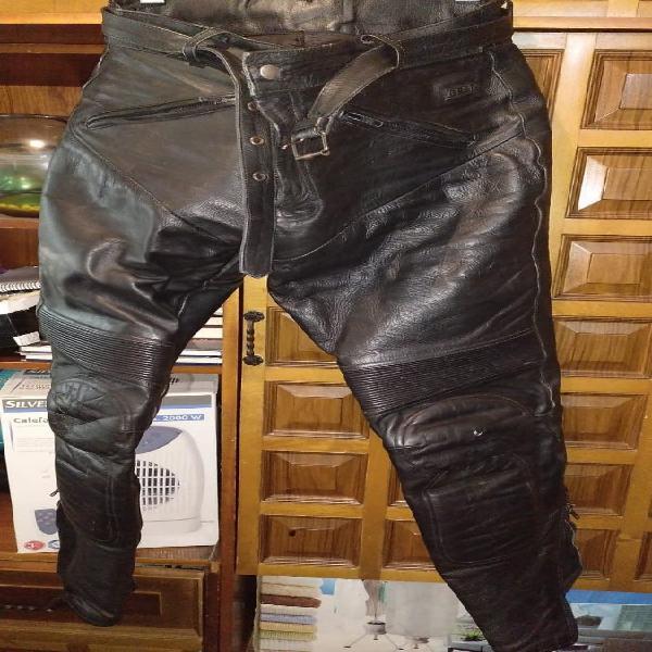 Pantalon moto cuero t50 l/xl