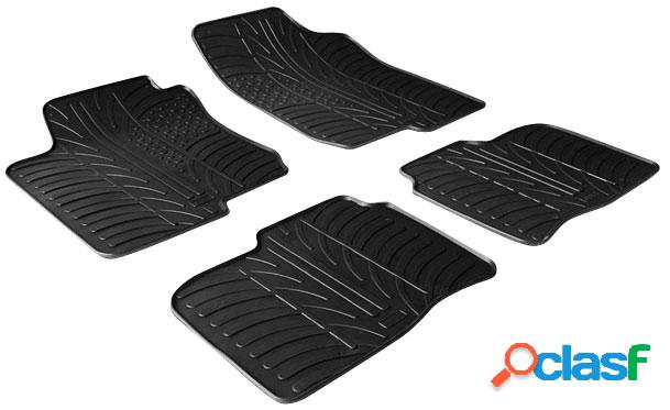 Juego alfombras goma bmw x4 f26 2014-(t profile 4-pieces + mounting cl