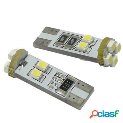 Kit lamparas posicion s/c 12v, 8 led smd, can bus t10, 10 x 30 mm