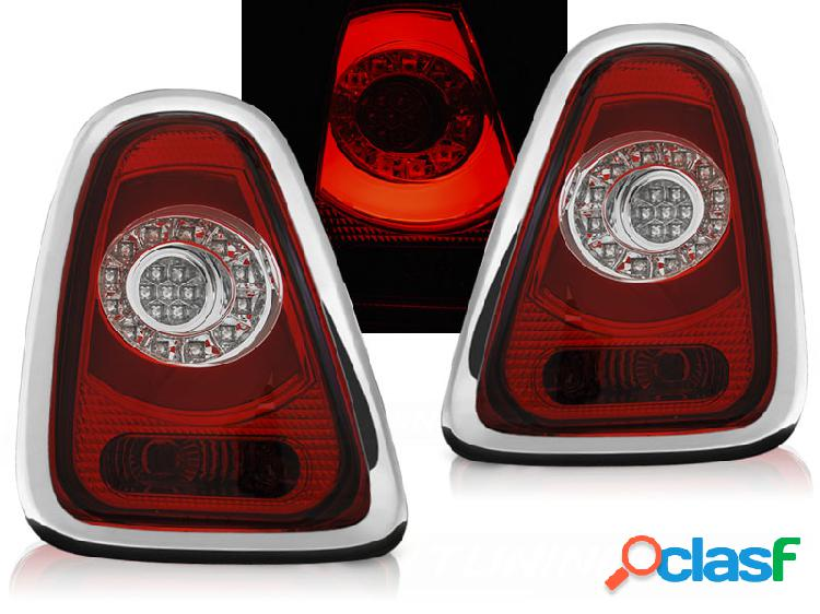 Pilotos traseros led mini cooper r56,r57 10-14 rojo/blanco led bar