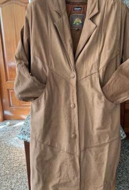 Abrigo para mujer de cuero talla m-l (largo)