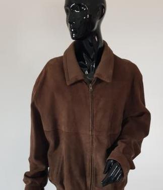 Cazadora de hombre de ante marrón