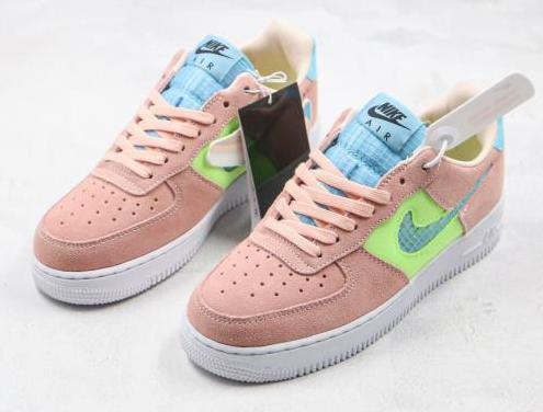 Nike air force 1 (pink, blue)