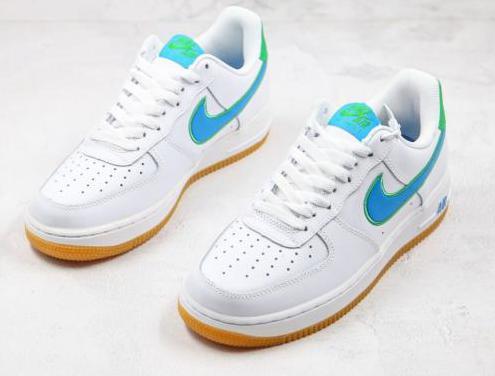 Nike air force 1 (white, light blue)