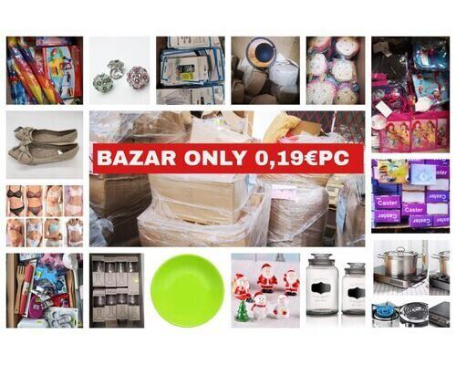 Palet bazar new desde 0,19€ pc