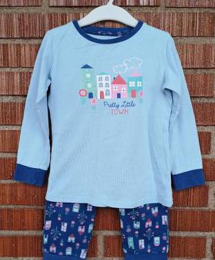 Pijama largo estampado, 3-4 años