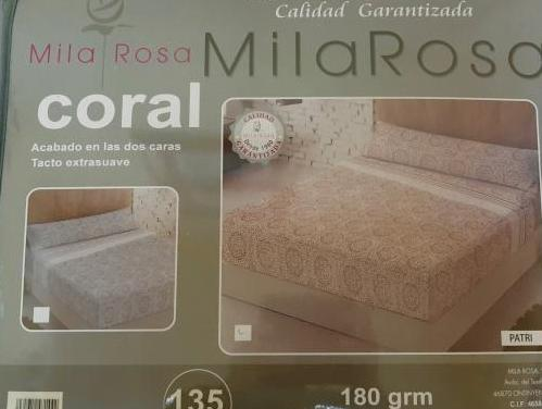 Sábanas coralina para cama de 135cm