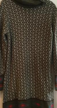 Vestido de lana de invierno talla l