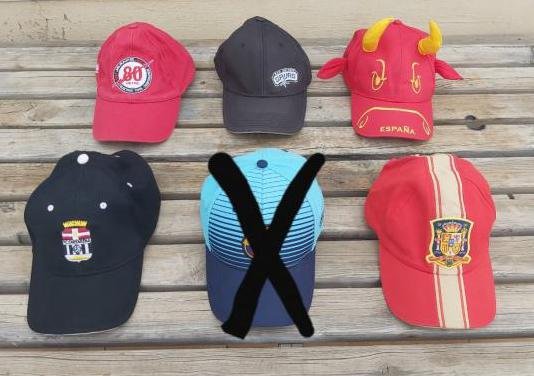 Gorras oficiales deportes