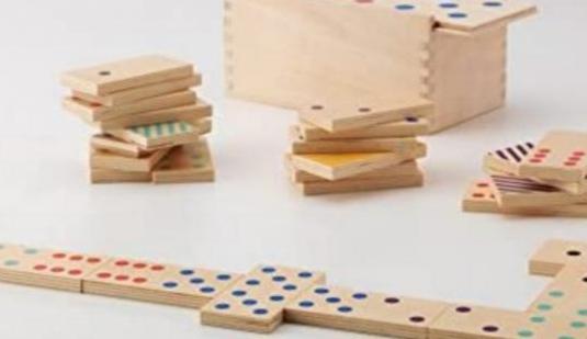 Juego dominó madera