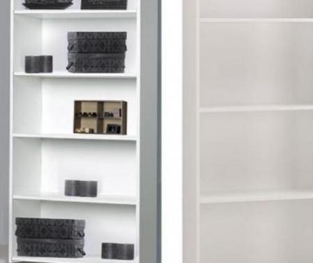 Librería blanca madera leroy merlin