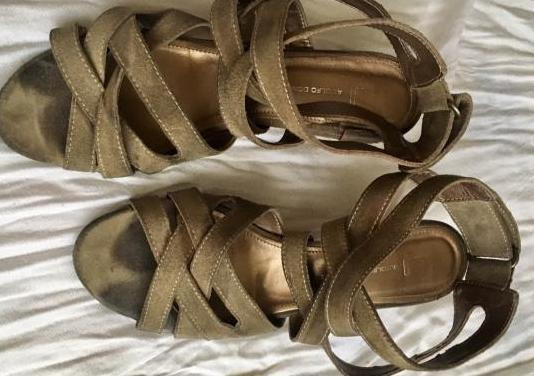 Sandalias piel ante adolfo dominguez , num 39