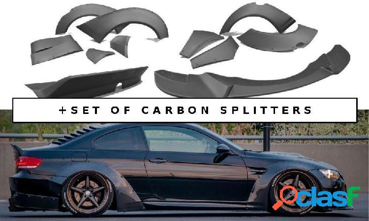 Bmw m3 e92 kit de carroceria ancho + set of carbon splitters - maxton