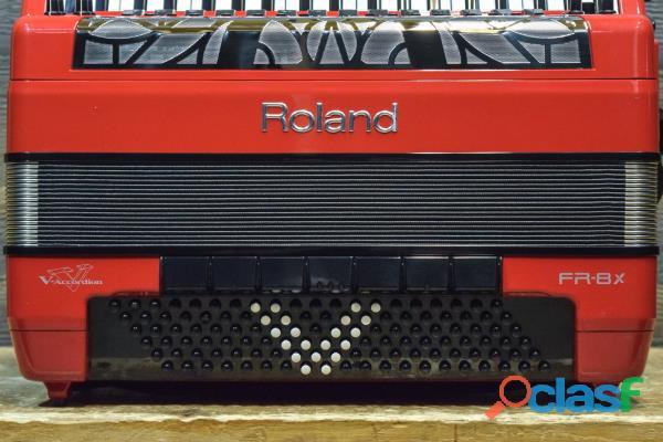 Acordeón Roland FR 8X RD V Rojo 1