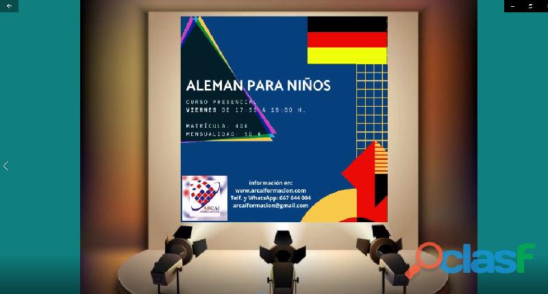 Curso presencial de alemán para niños