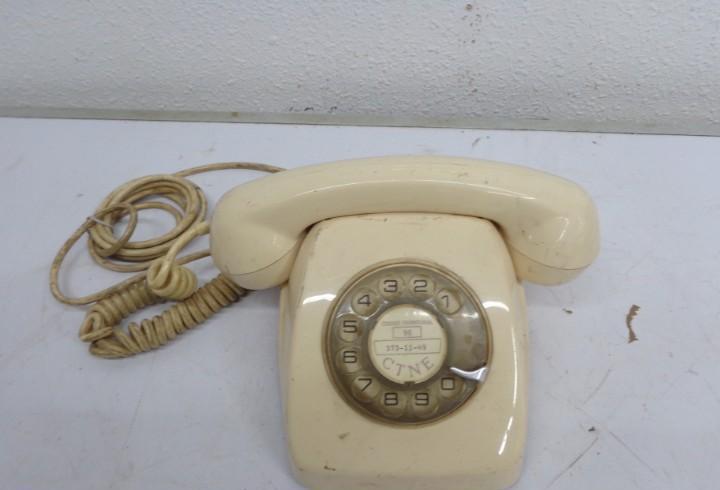 Antiguo años 60 retro vintage y bopnito telefono, completo