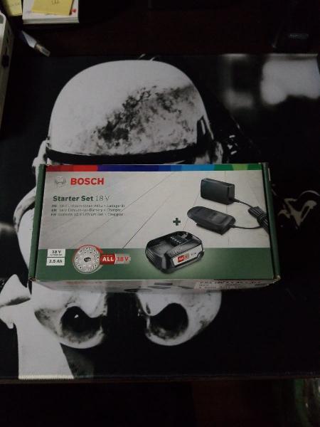 Cargador y bateria bosch 18v.