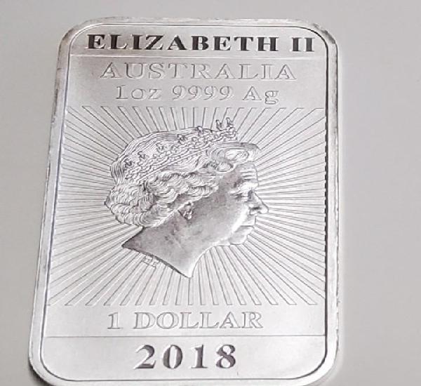 Lingote de plata de australia del año 2018.1 onza de plata