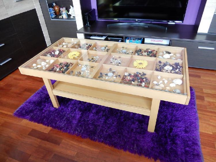 Super precio¡¡ mesa de centro madera/cristal