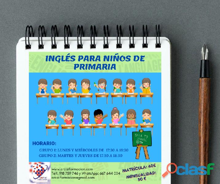 Curso de inglés para niños de primaria