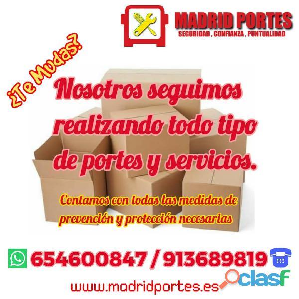 ECONÓMICOS Y RÁPIDOS, SERVICIOS MADRID PORTES