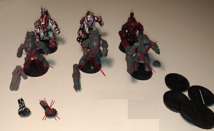 X3 xv25 stealth battlesuits tau (mal pintados)