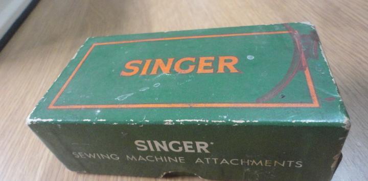 Antiguo estuche carton.maquina coser singer.160809.made in
