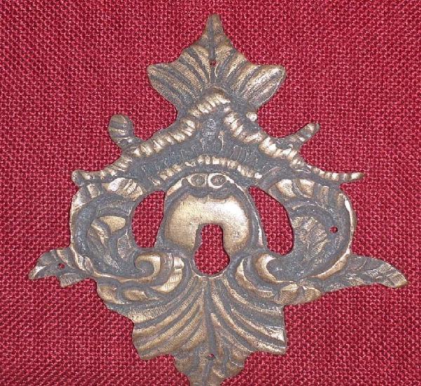 Boca llave o escudo de bronce siglo xix