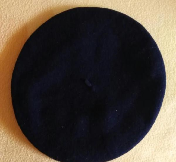 Boina azul marino oscuro mujer - ovalada - vuelo 27cm x 24c