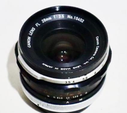 Canon fl 28mm. f3.5