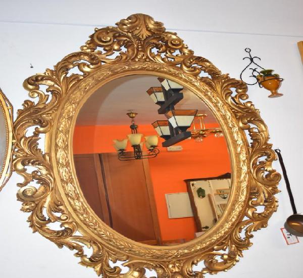 Espejo antiguo de pared en madera 1.40 x 0.94