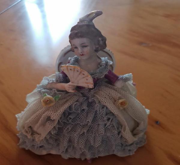 Figurin porcelana antigua, dresden alemania