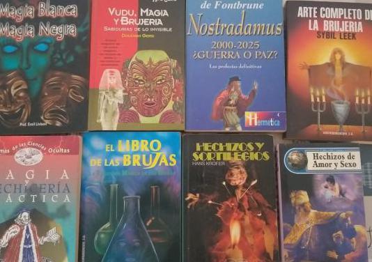 Libros de magia, hechizos y brujerias