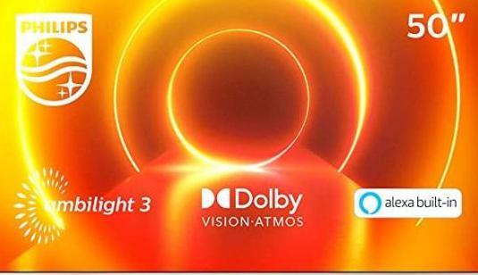 Smart tv led 4k uhd 50'' philips 50pus7855/12