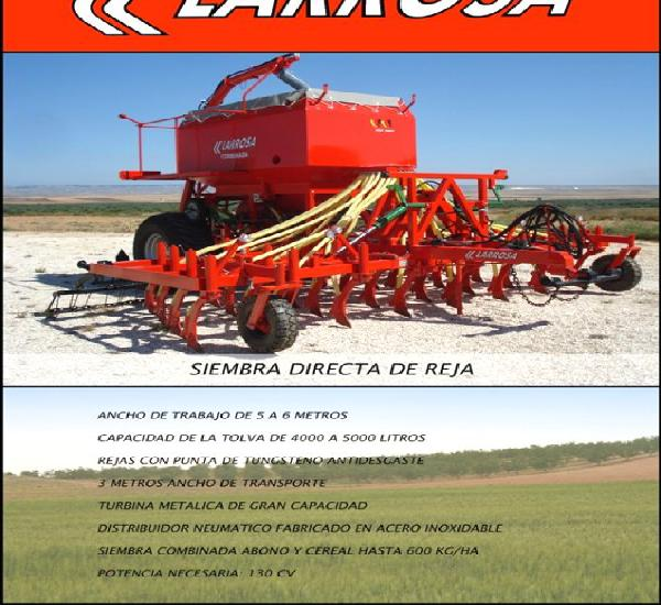 Venta de sembradora de siembra directa larrosa de reja de 5