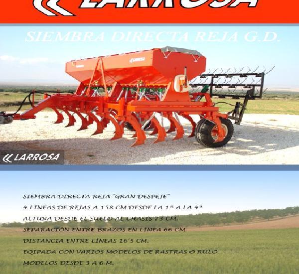 Venta de sembradora de siembra directa larrosa de reja en