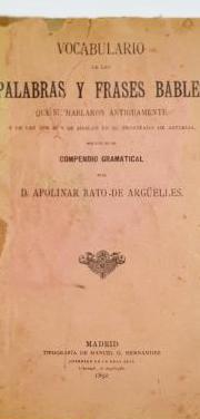 Vocabulario de las palabras y frases bables (1892)