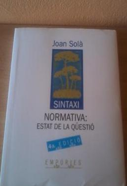 Llibre sintaxi normativa
