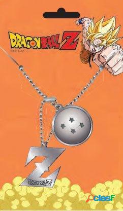 Colgante con chapas de identificacion Dragon Ball