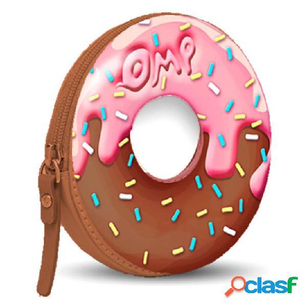 Monedero donut chocolate y fresa oh my pop