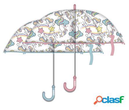 Paraguas automatico unicornio transparente