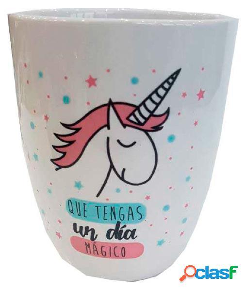 Taza unicornio '' que tengas un dia mágico ''