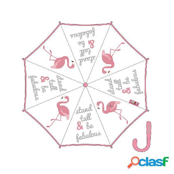 Paraguas transparente flamenco